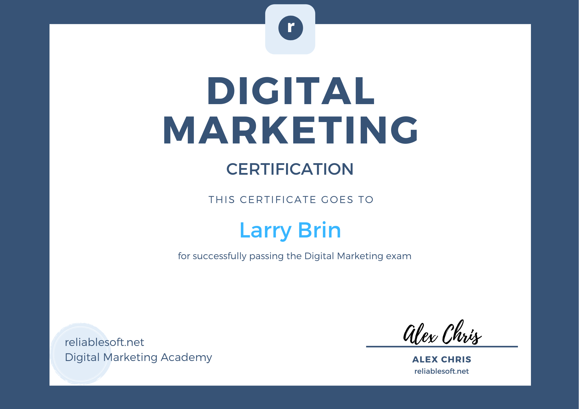 Certificado de marketing digital