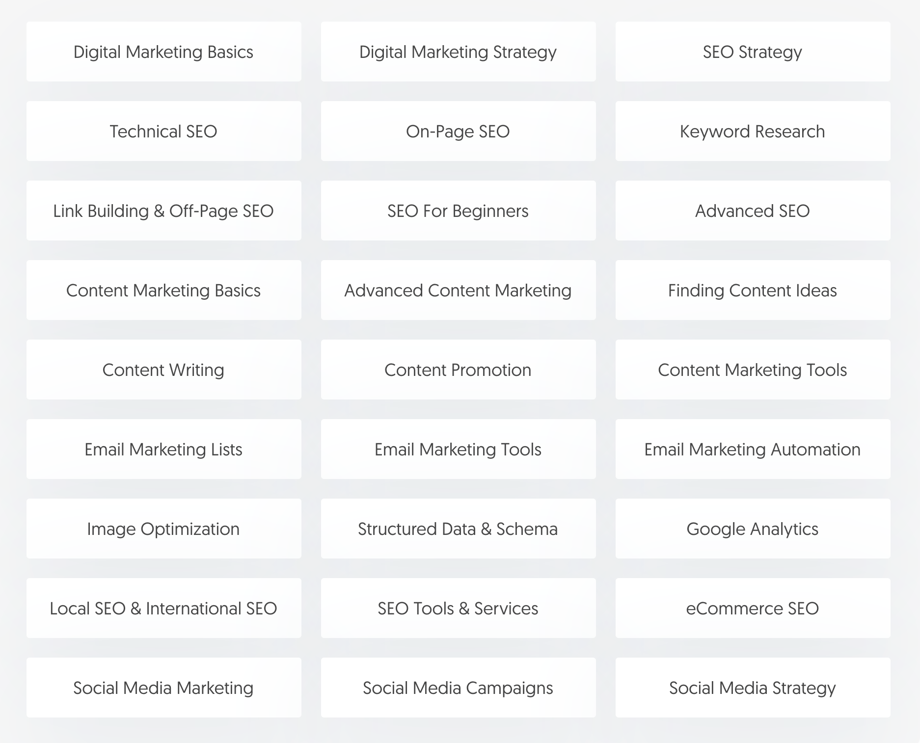 Digital Marketing Course Syllabus