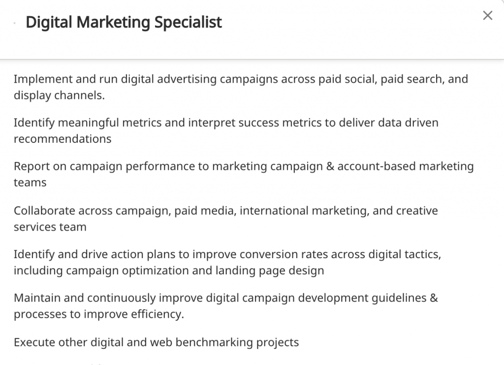 Entry-Level Digital Marketing Job Posting