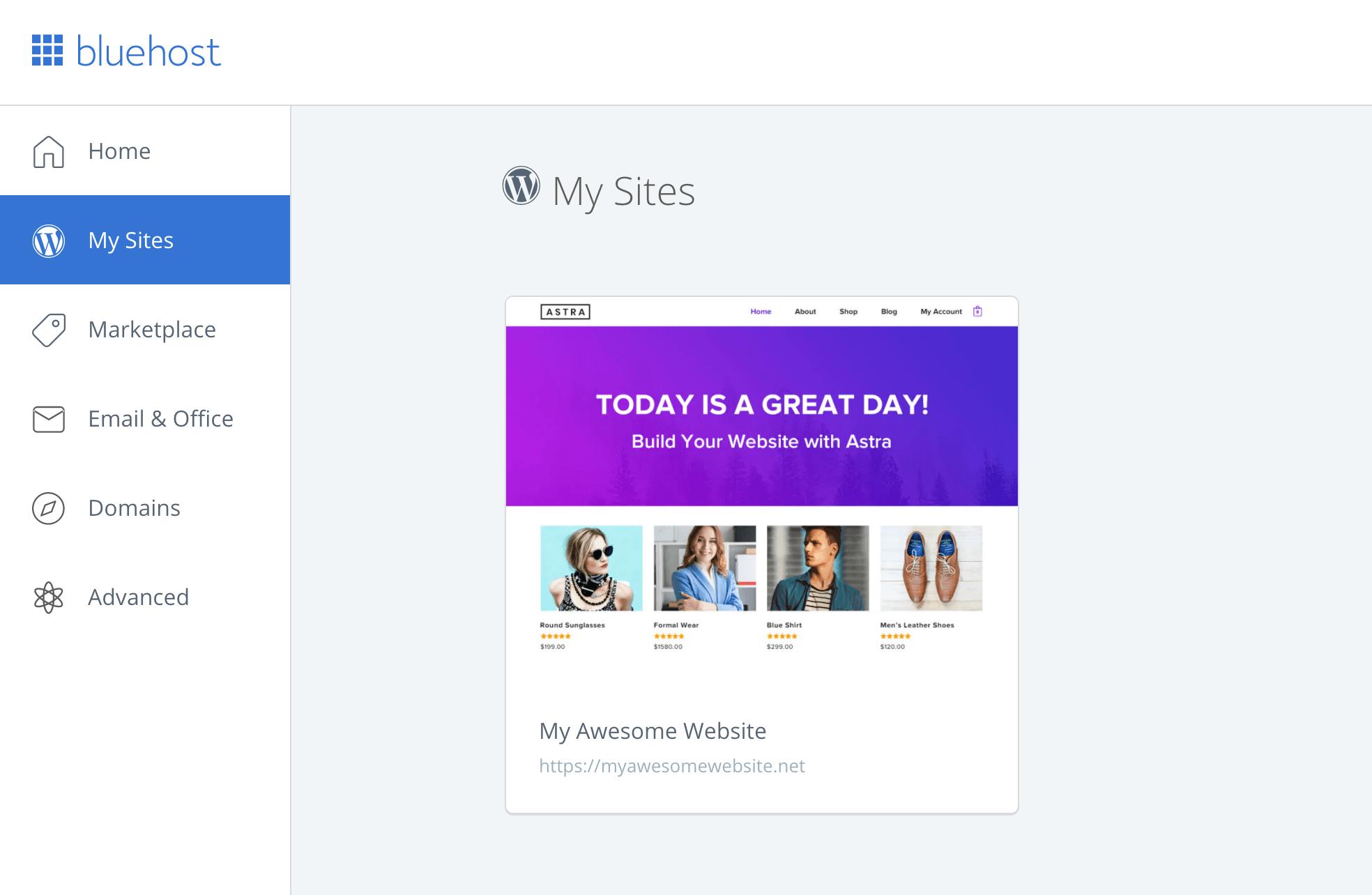 Inicie sesión en WordPress