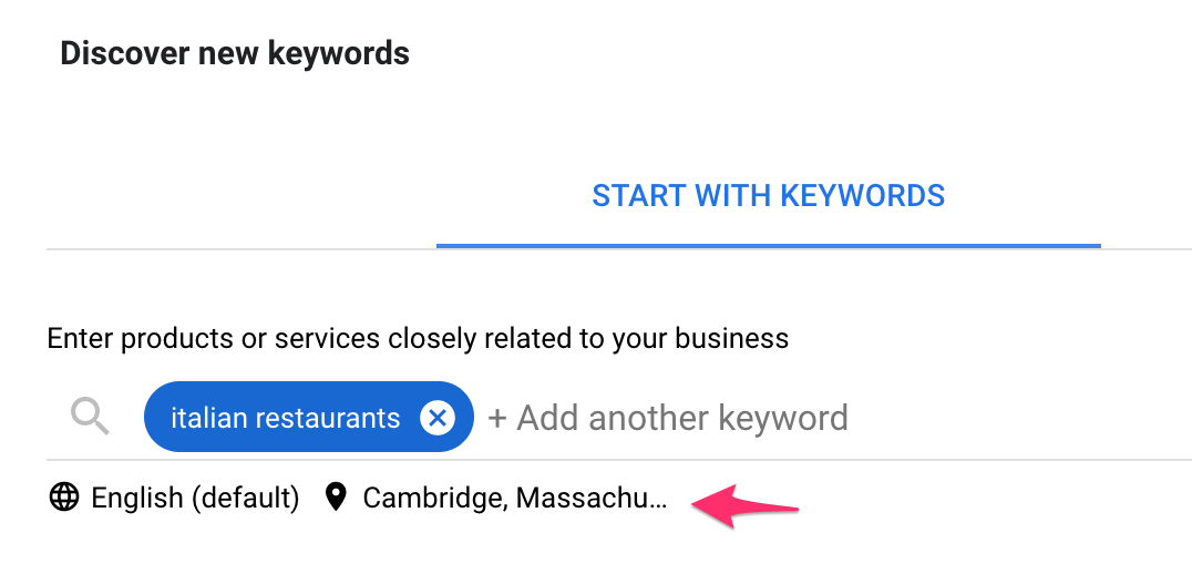 Local SEO Keyword Research Example