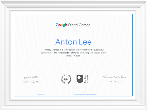 Google Digital Marketing Certification