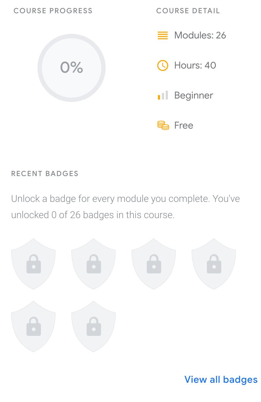 Google Student Profile