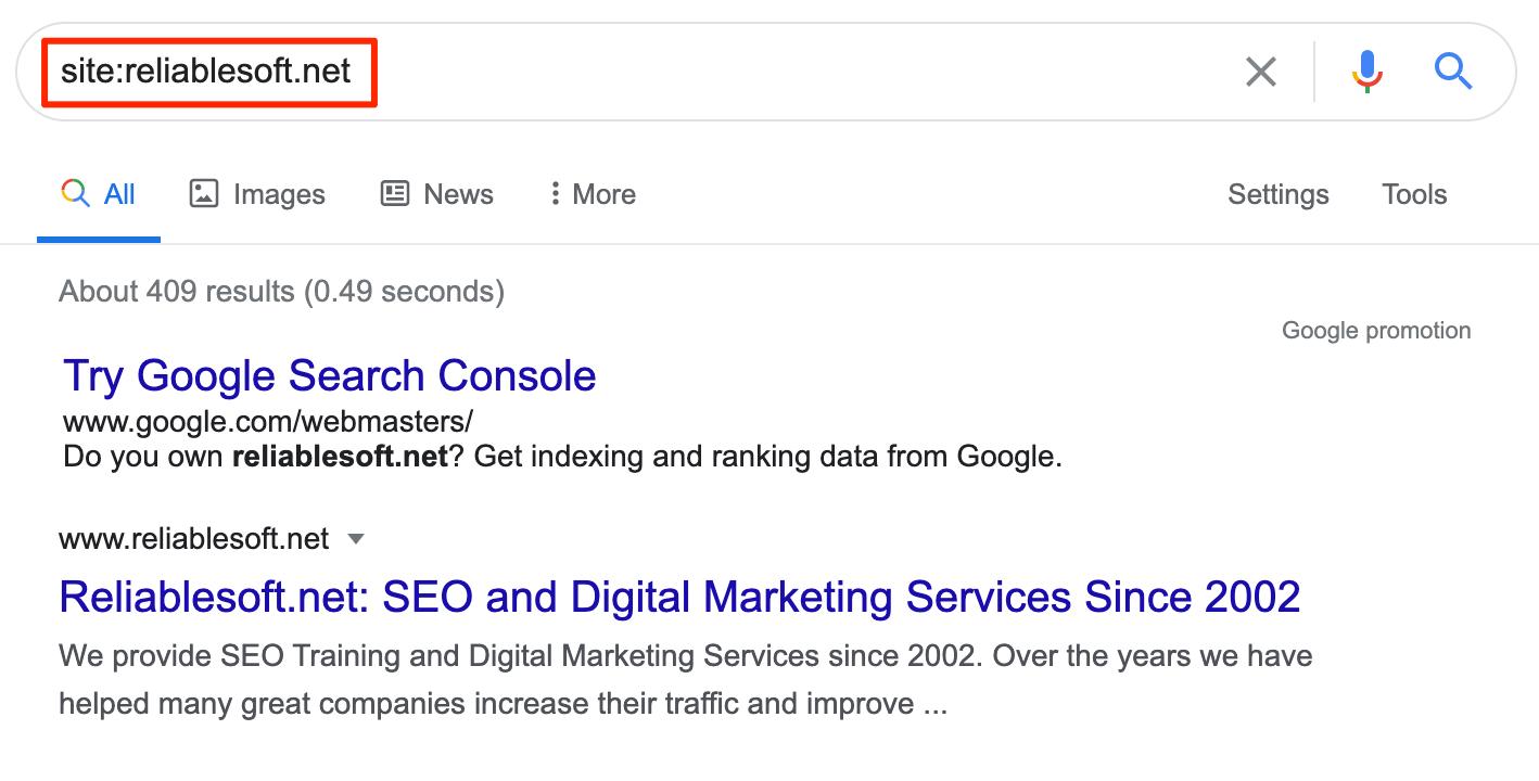 Google Site Operator