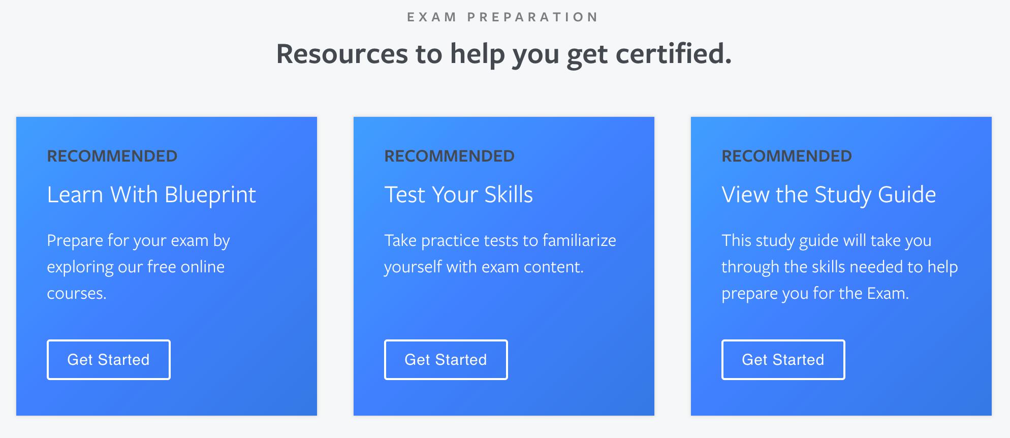 Facebook Certification Preparation Resources