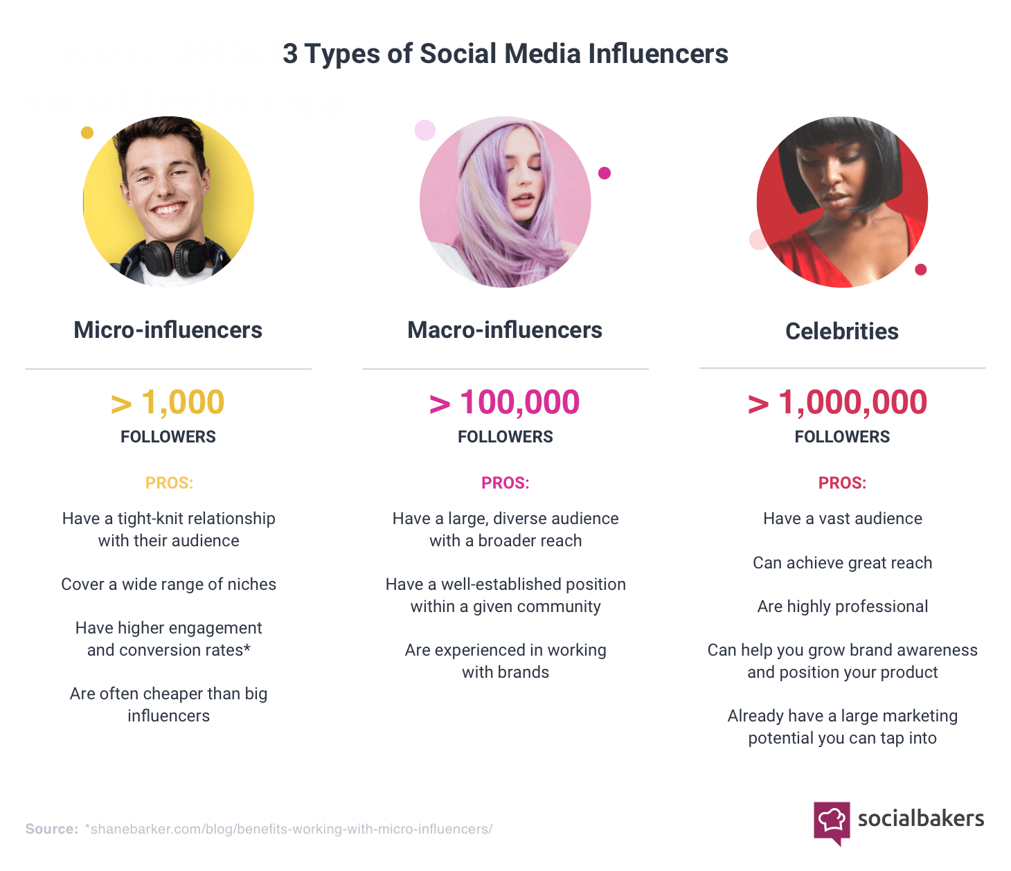 Types of Social Media Influencers