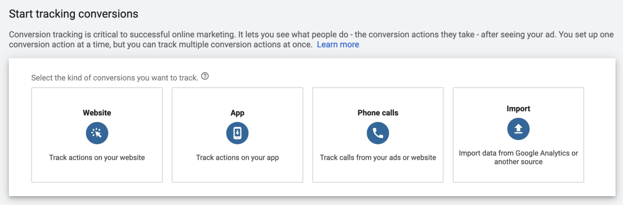 Google Ads Conversion Types