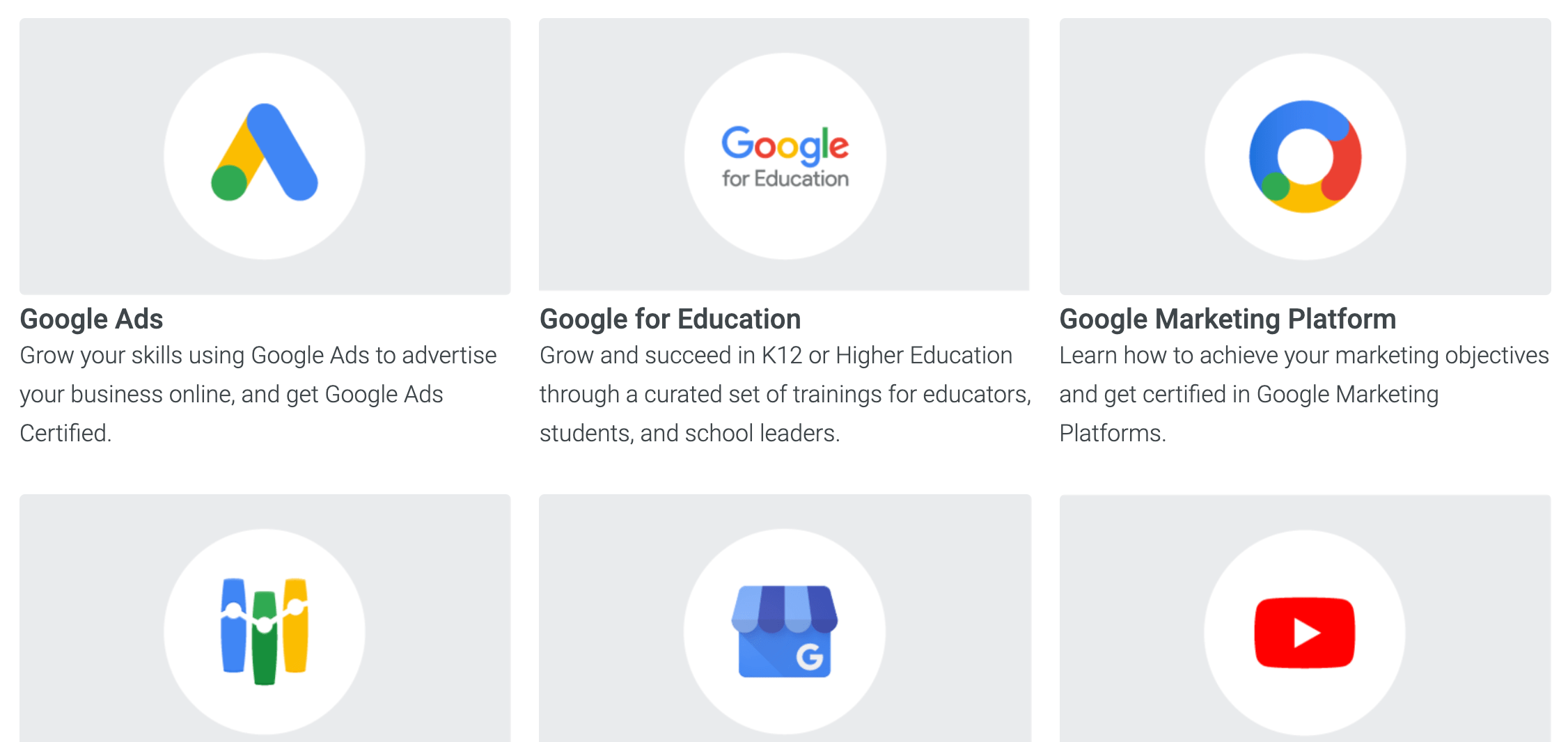 Google Skillshop Courses