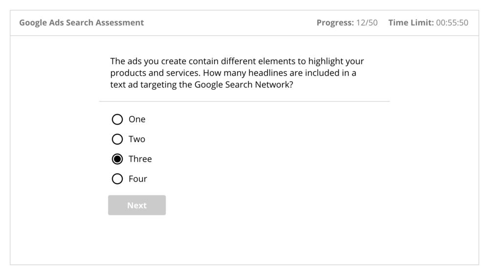 Google Skillshop Sample Exams