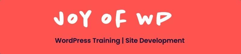 Joy of WP WordPress Courses