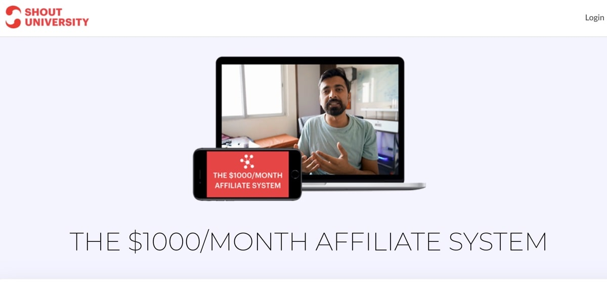 Affiliate System by Shout University