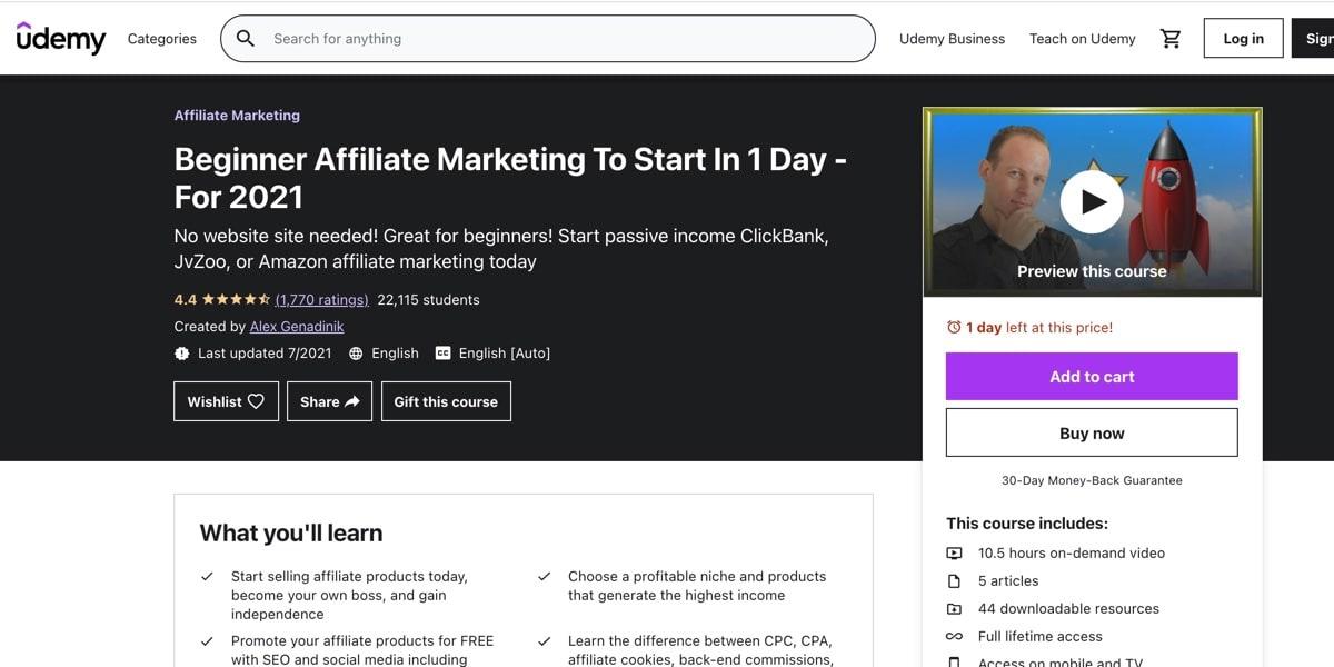 Beginner Affiliate Marketing Course