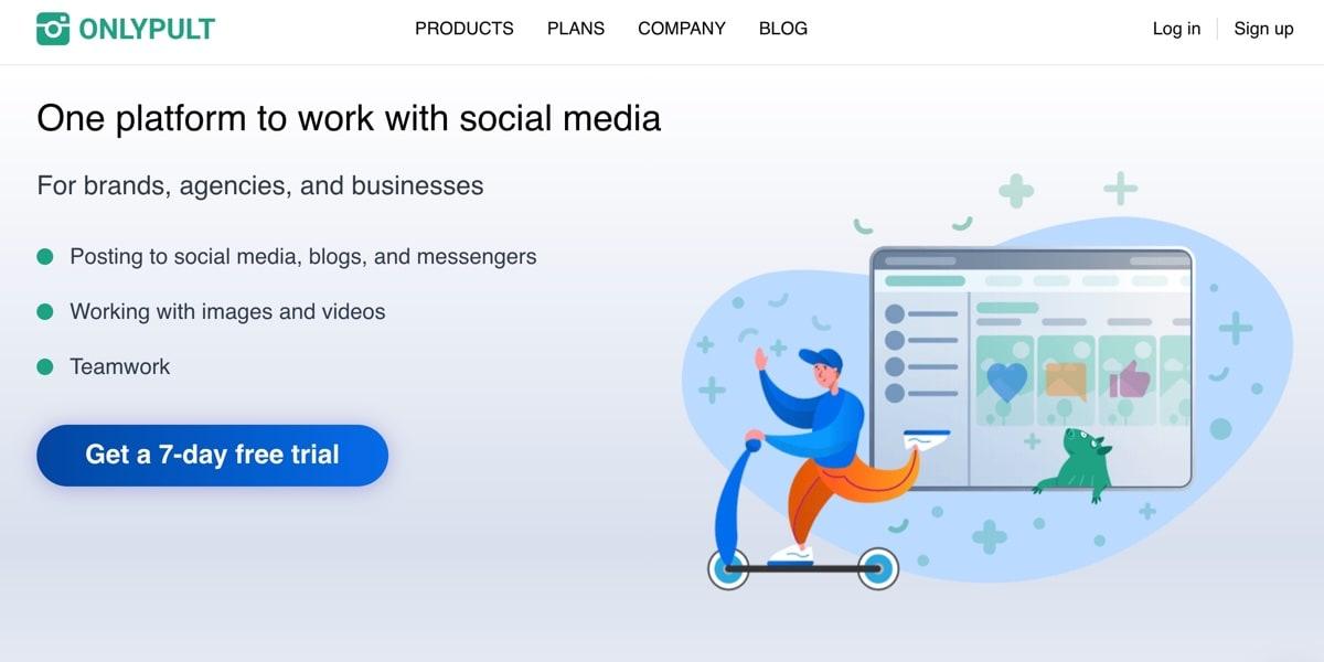 OnlyPult Social Media Tool